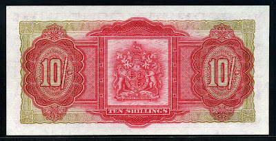 Ten Shillings banknote money collectors