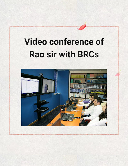 Video conference of Rao sir with BRCs