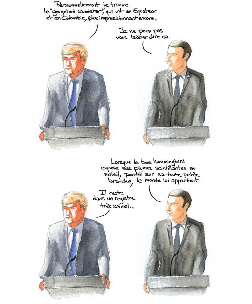 débats trump macron