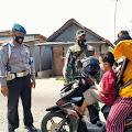 Tidak Gunakan Masker Sepuluh Warga Pebayuran  Di Sangsi Petugas