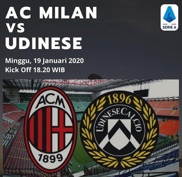 AC Milan Vs Udinese-IGinfomilan.id