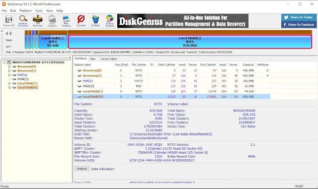 برنامج DiskGenius