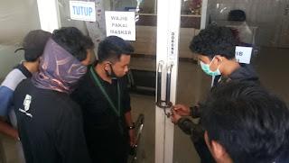 HMI Sinjai Mengusir Paksa Karyawan PT.Mandala Finance Serta Menyegel nya,  Kapolres  Turun Langsung