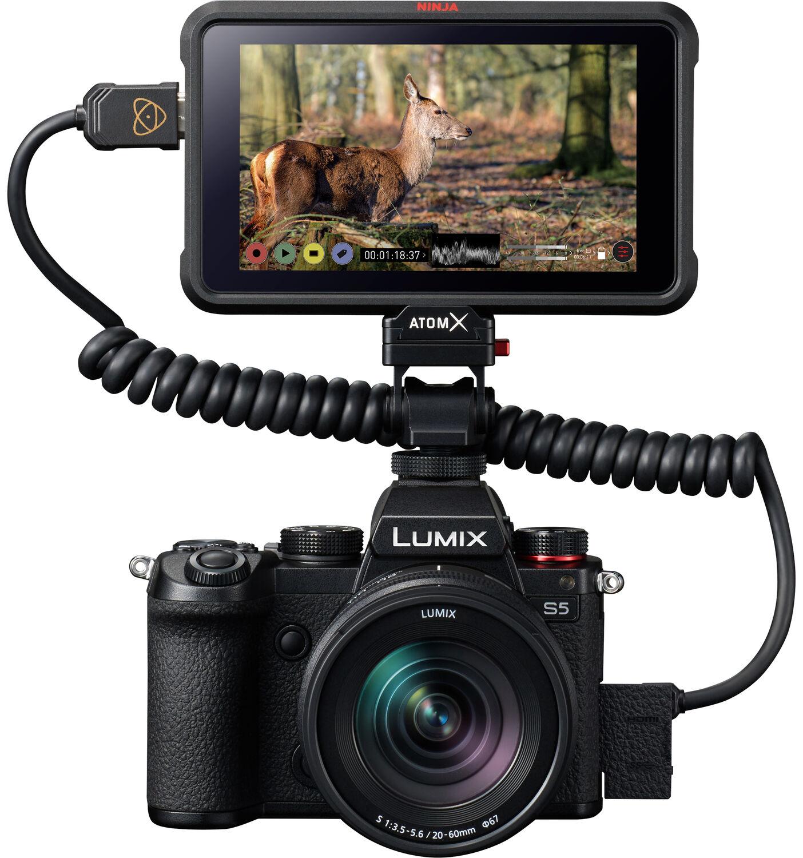 Panasonic Lumix S5 в внешним рекордером Atomos