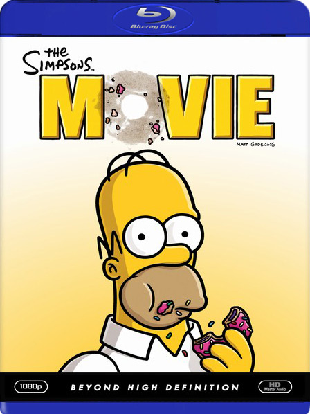 Poster Of The Simpsons Movie 2007 English 300MB BRRip 480p Free Download Watch Online