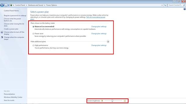 tutorial cara mencerahkan menerangkan layar monitor laptop PC windows 7