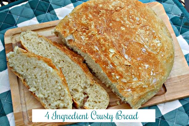 4 Ingredient Crusty Bread