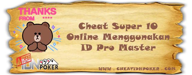 Cheat Super 10 Online Menggunakan ID Pro Master