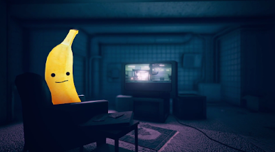 Devolver Digital Direct E3 2019 Pedro banana playing train shooter on couch