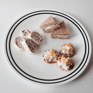 pinwheels, sandwich, dip