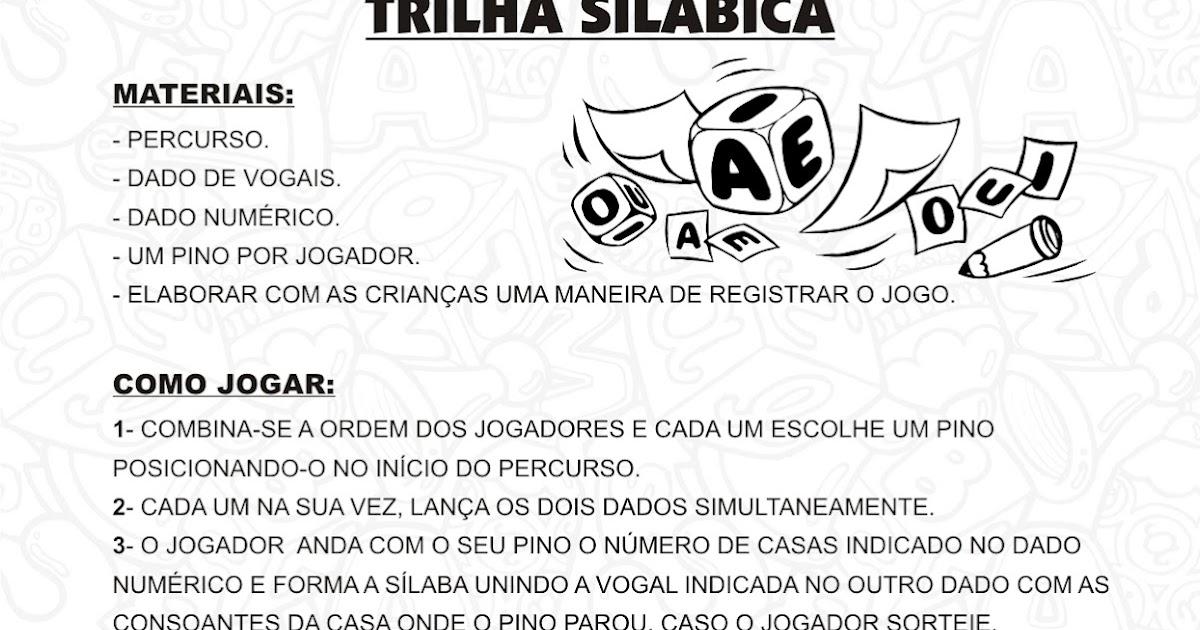 Jogos Trilha Silabica Alfabetizacao