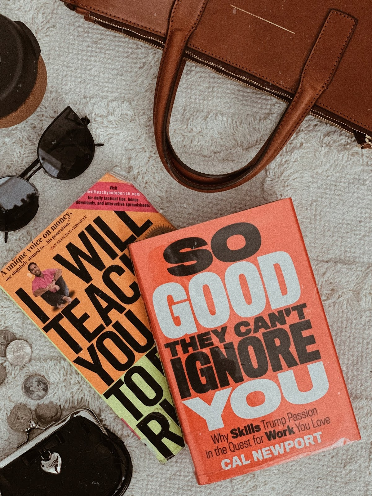flatlay of so good they can't ignore you by cal newport - book review | book book bitch