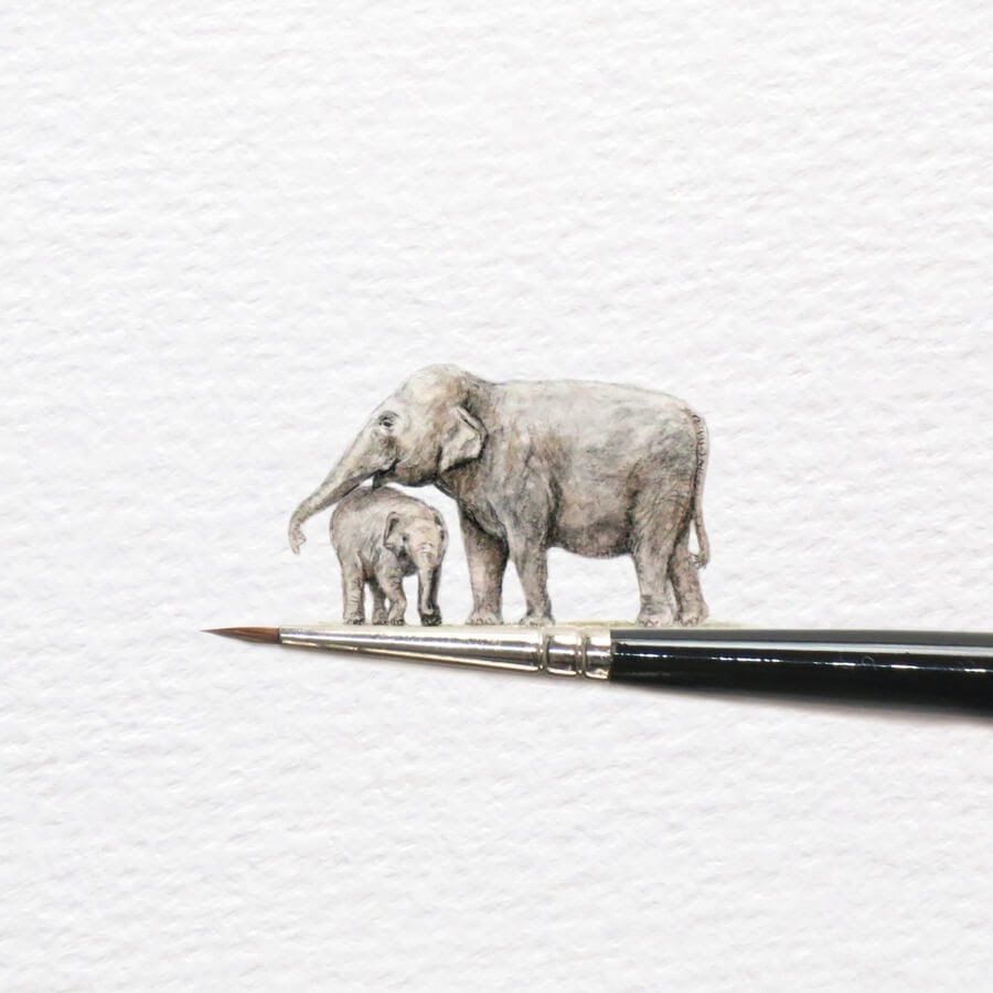 10-Mother-and-Baby-Elephant-Frank-Holzenburg-www-designstack-co