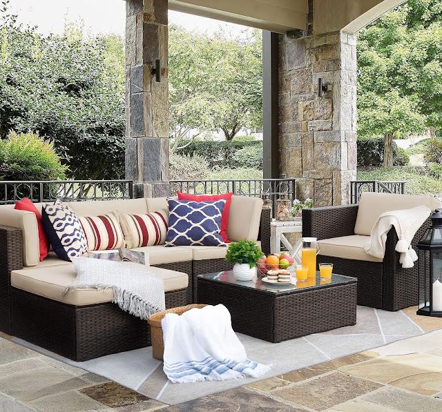 Flamaker 6 Pieces Patio Furniture Set Outdoor