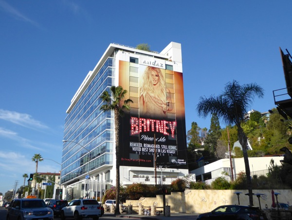 Giant Britney Spears Piece of Me Las Vegas billboard