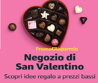 Logo Amazon San Valentino : prezzi bassi per le tue idee regalo ( lui e lei)
