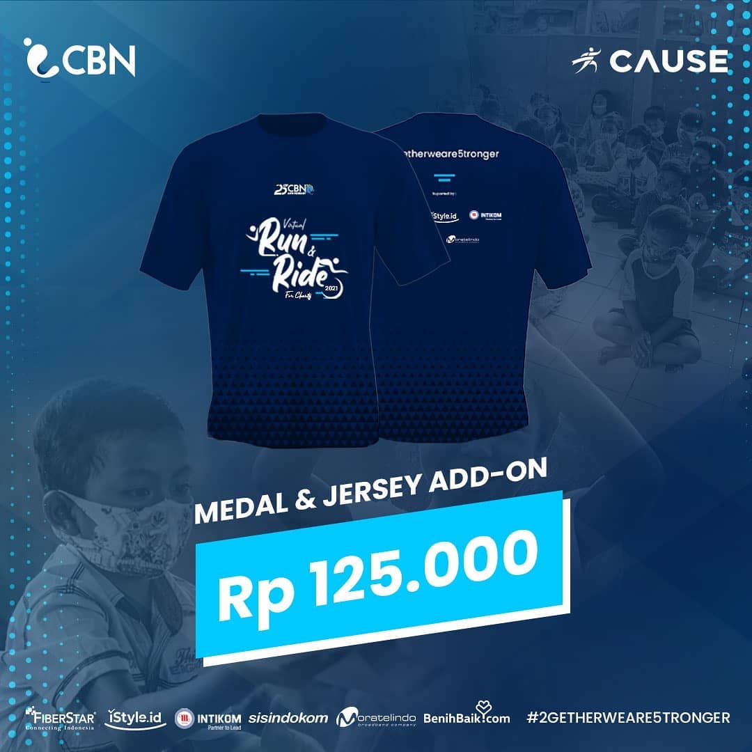 Jersey 👕 CBN Virtual Run & Ride for Charity • 2021