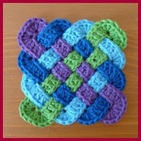 Posavasos nudo celta crochet