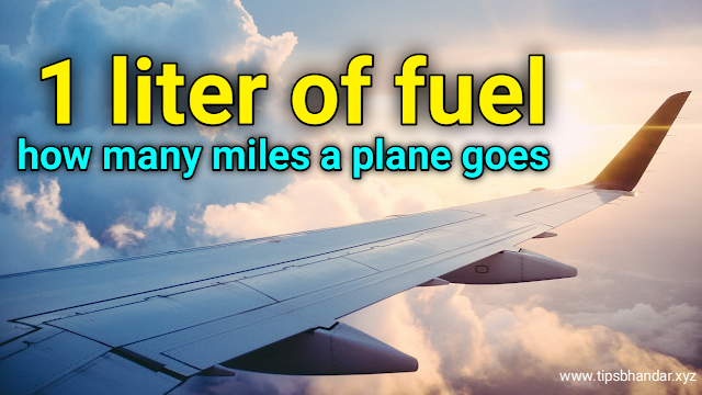 Do you know how many miles a plane goes in 1 liter of fuel?