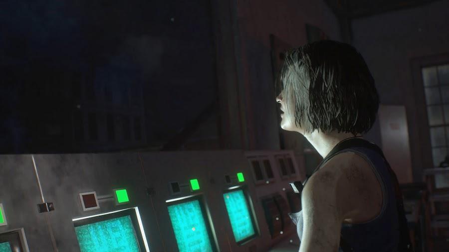 resident evil 3 remake screenshot image jill valentine restoring power raccoon city