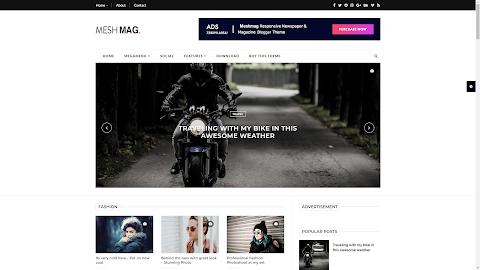 2 Mẫu MeshMag Magazine Blogger Template (Giá 100K)