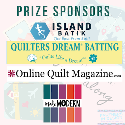Prize sponsors for Destination: Quilt Along