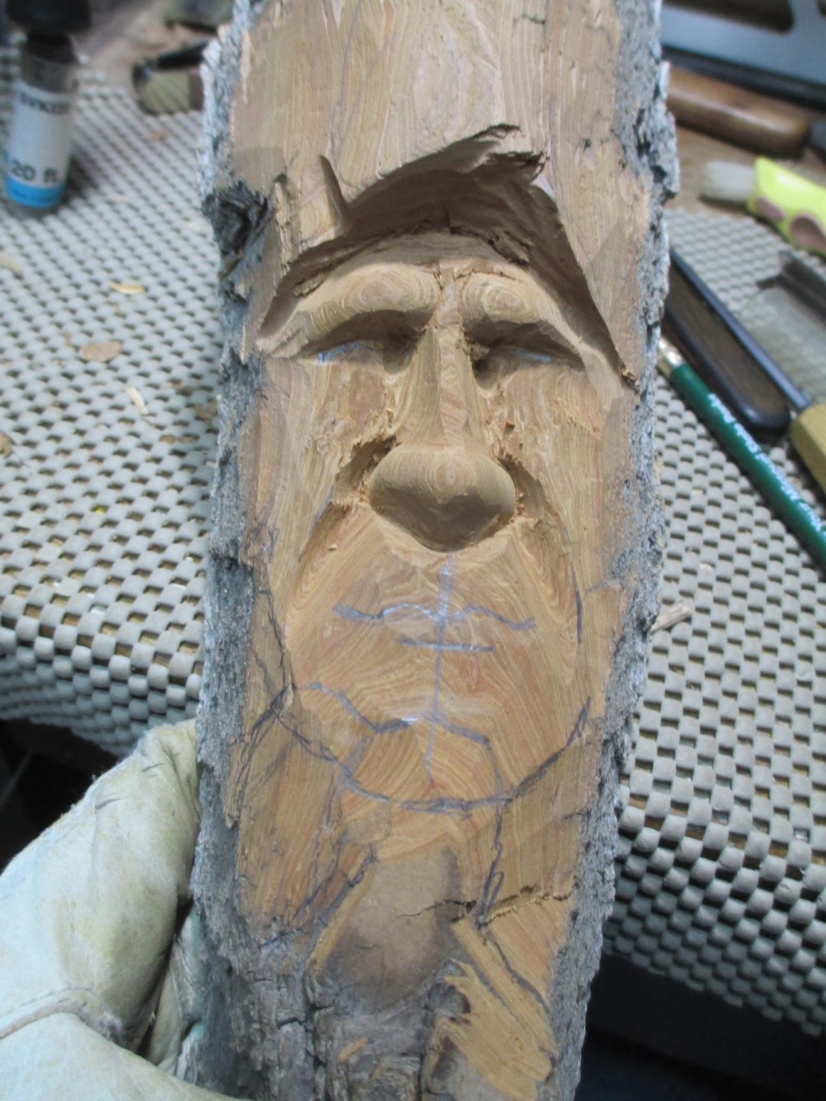 Zillustration studio news the greenman chainsaw carving
