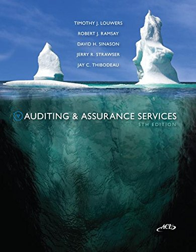 Auditing & Assurance Services w ACL cd + Connect Plus by Timothy Louwers and Robert Ramsay