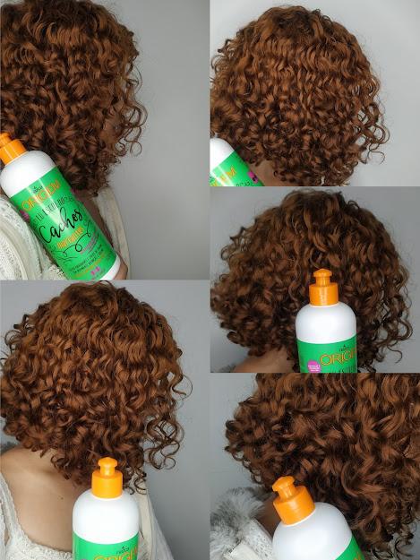 cabelo cacheado ruivo desbotado finalizado com ativador de cachos marcantes origem nazca cosmeticos