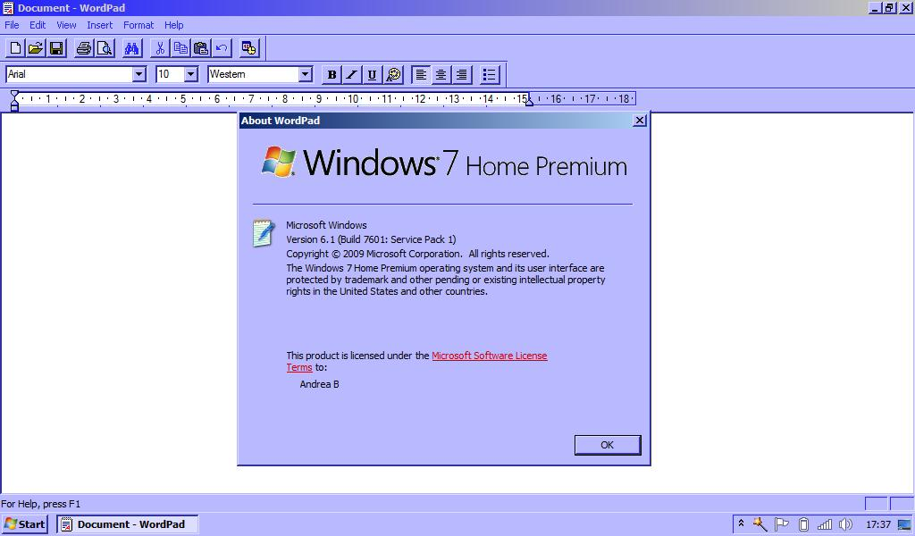 wordpad windows xp