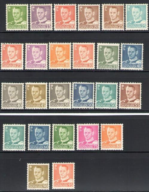 1948-53 Denmark, Denmark, King Frederick Ix - Series