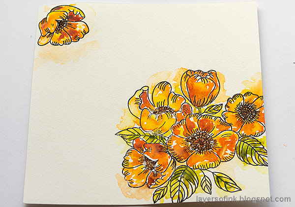 Layers of ink - Autumn Watercolor Flowers by Anna-Karin Evaldsson.