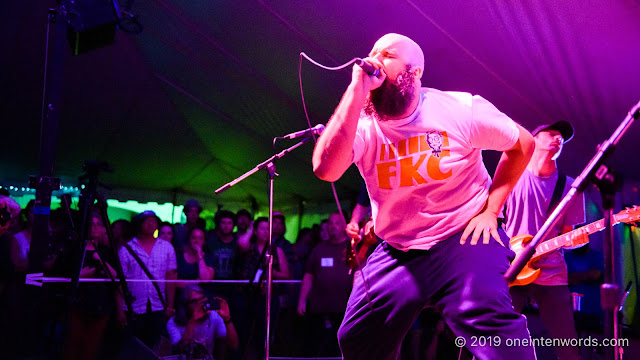 Fucked Up at Hillside Festival on Sunday, July 14, 2019 Photo by John Ordean at One In Ten Words oneintenwords.com toronto indie alternative live music blog concert photography pictures photos nikon d750 camera yyz photographer