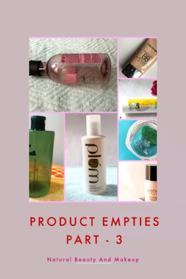 Product Empties Part 3 on natural beauty and makeup blog