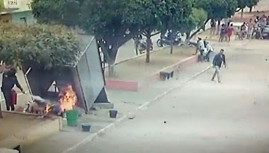 Guarda Municipal debela princípio de incêndio após botijão pegar fogo em barraca de acarajé na zona rural de Queimadas