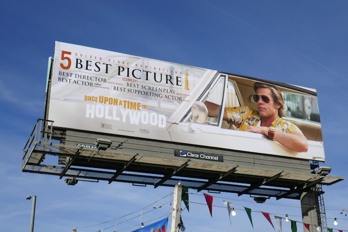 Once Upon Time Hollywood Golden Globe billboard