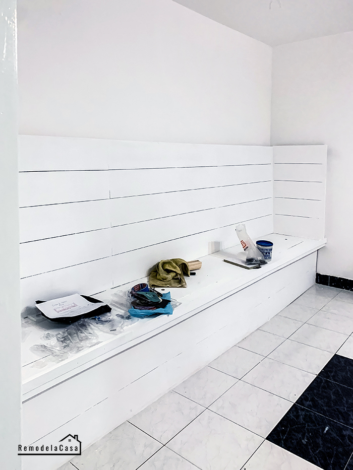 How to build a banquette with storage