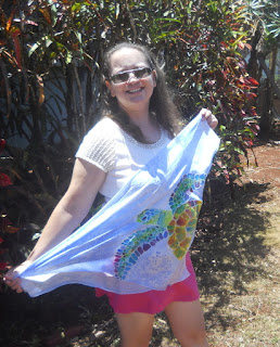 Sea Turtle Hand Painted Silk Scarf by Marionette