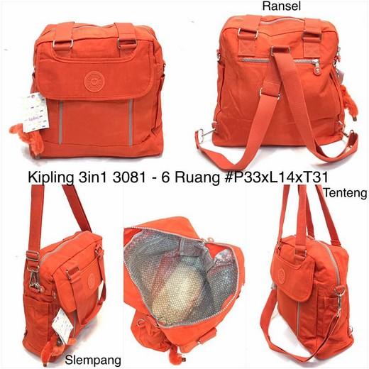 Tas Kipling 3in1 polos tipe   3081P bd6b4e9169
