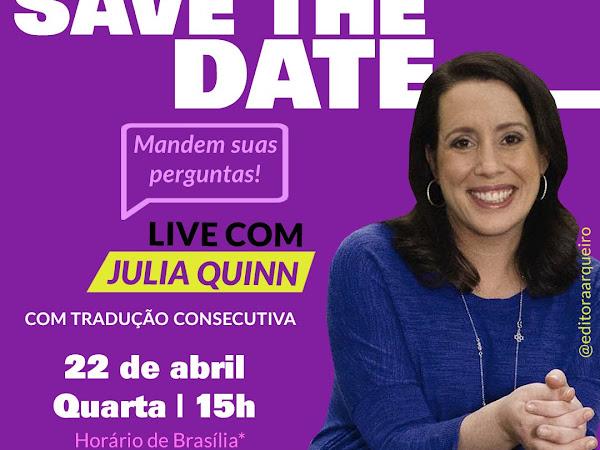 [Atualizada] Live exclusiva com Julia Quinn