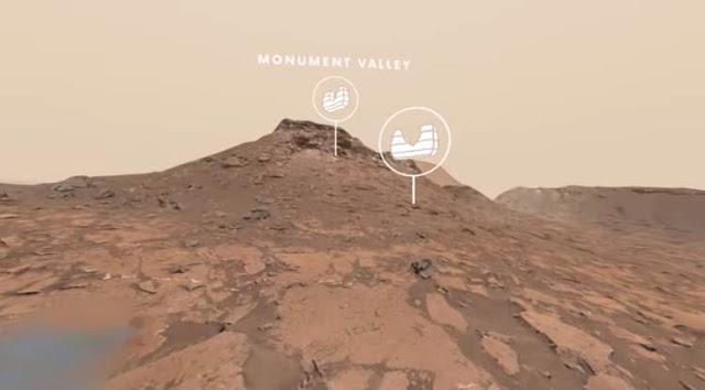 menjelajahi planet mars dari komputer dan smartphone