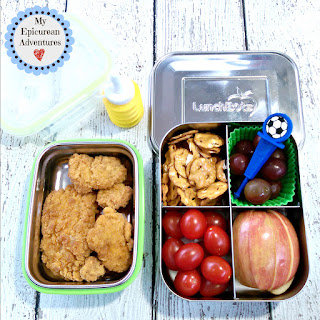 My Epicurean Adventures: Lunch Box Fun 2015-16: Weeks #23-28. Lunch box ideas, school lunch ideas, lunches, chicken tenders
