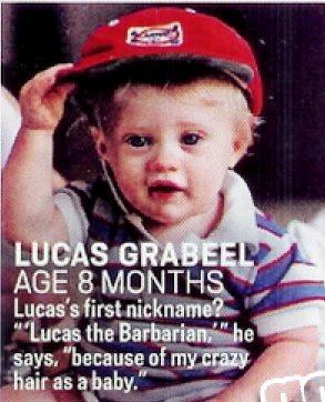 Foto de Lucas Grabeel de niño pequeño
