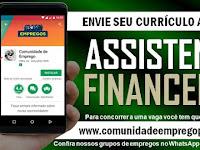 ASSISTENTE FINANCEIRO COM SALÁRIO R$ 1728,00 PARA EMPRESA DE PEÇAS DE MOTO