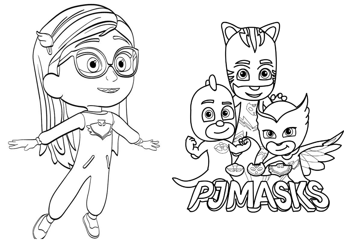 ücretsiz Pj Masks Boyama Kitabı Neşeli Süs Evim ücretsiz Parti