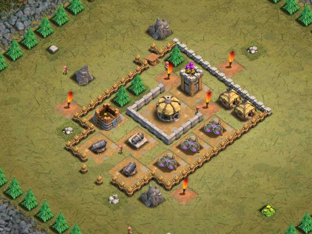 Goblin Base Clash of Clans Watchtower
