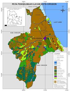 contoh peta tematik penggunaan lahan kota cirebon