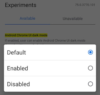 Enable dark mode on Google Chrome