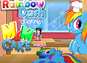 Rainbow Dash m & m Cake juego