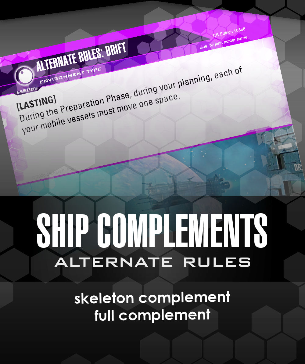 Dog Fight: Starship Edition Alternate rules ship complements